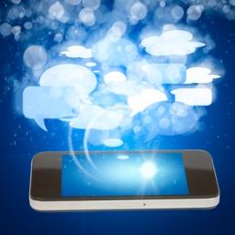 smart phone social media concept